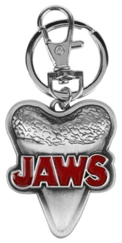 Jaws Shark Tooth Pewter Finish KEYCHAIN