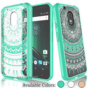 online store 9ac67 ca0dc Details about Hybrid Shockproof TPU Bumper Clear Back Case Cover for  Motorola Moto G4 Play