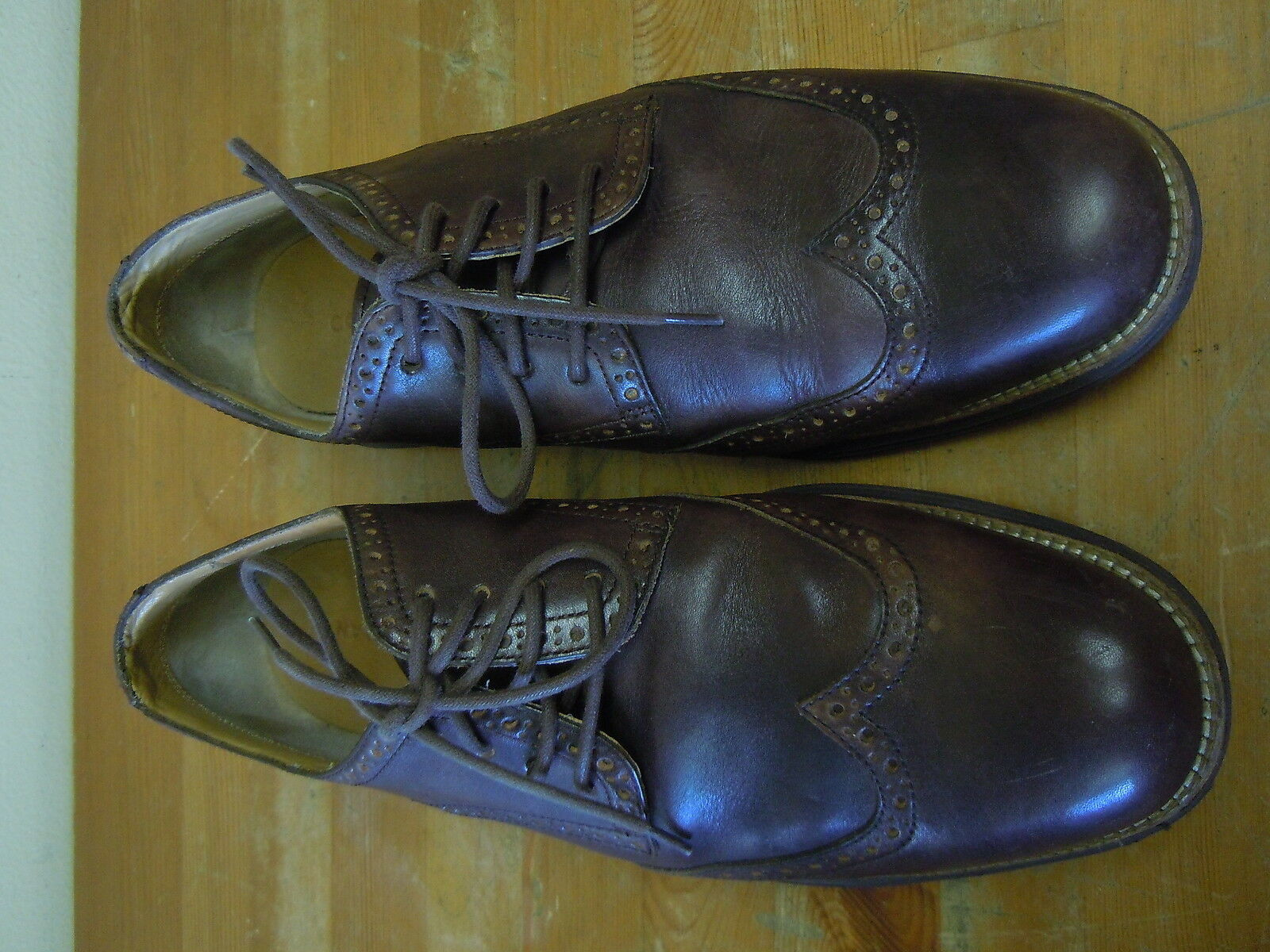 Scarpe casual da uomo  Cole Haan Lunargrand Lunarlon leather Wingtip Color Brown Size 12M