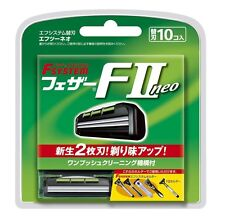 Japanese Feather Safety Razor Rasor F-system F2 NEO 10 spare Blade Blades *10 bl