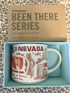 Starbucks Coffee Been There Series 14oz Mug NEVADA Cup w/SKU Stains On Box Cover