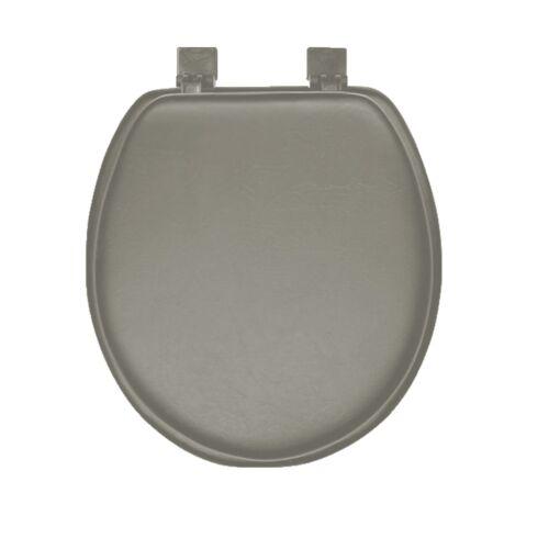 NEW Grey Soft Padded Round Toilet Seat