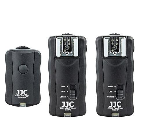Blitzauslöser für Kamera und Blitz mit 2 Empfänger 30m Funk Fernauslöser