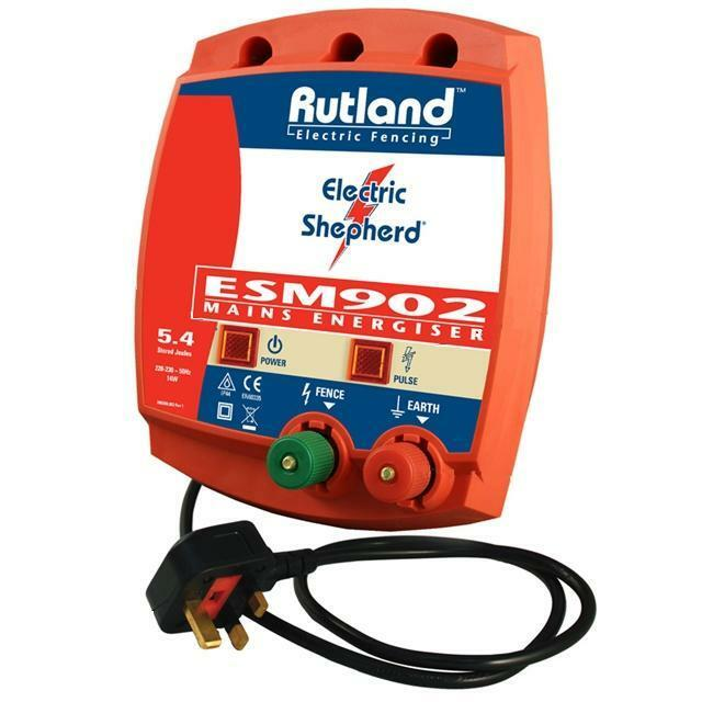 RUTLAND ESM 902 Mains Electric Fencing Fence Energiser 3 Year Warranty Fencer