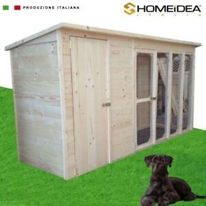 Casetta cuccia recinto per cani in legno massello 332 x 117 cm box cuccia ebay - Recinto mobile per cani ...