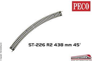 PECO-ST-226-H0-1-87-Binario-curva-R2-438-mm-45-cod-100