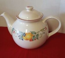 Corelle Coordinates ABUNDANCE Fruits Pattern Tea Pot with Lid