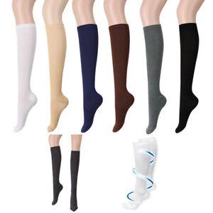 73e29cb424 Men Women Anti-Fatigue Knee High Elastic Stockings Compression Leg ...
