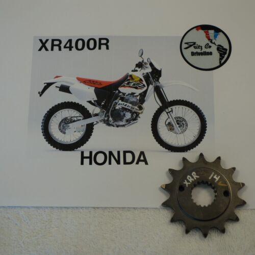 Honda XR400R14T MAXIMUM SPLINE CONTACT DOUBLE LIFE FRONT SPROCKET