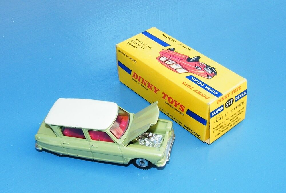 French Dinky Toys 557  AMI 6  Citroen Green White Original EX++     Rare