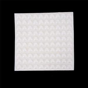 100PCS Door Self Adhesive Rubber Door Buffer Pad Feet Semicircle Bumpers WQZY