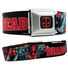 Deadpool Belt Wade Winston Wilson Licensed Mens Comic Strip Seatbelt Buckle Down