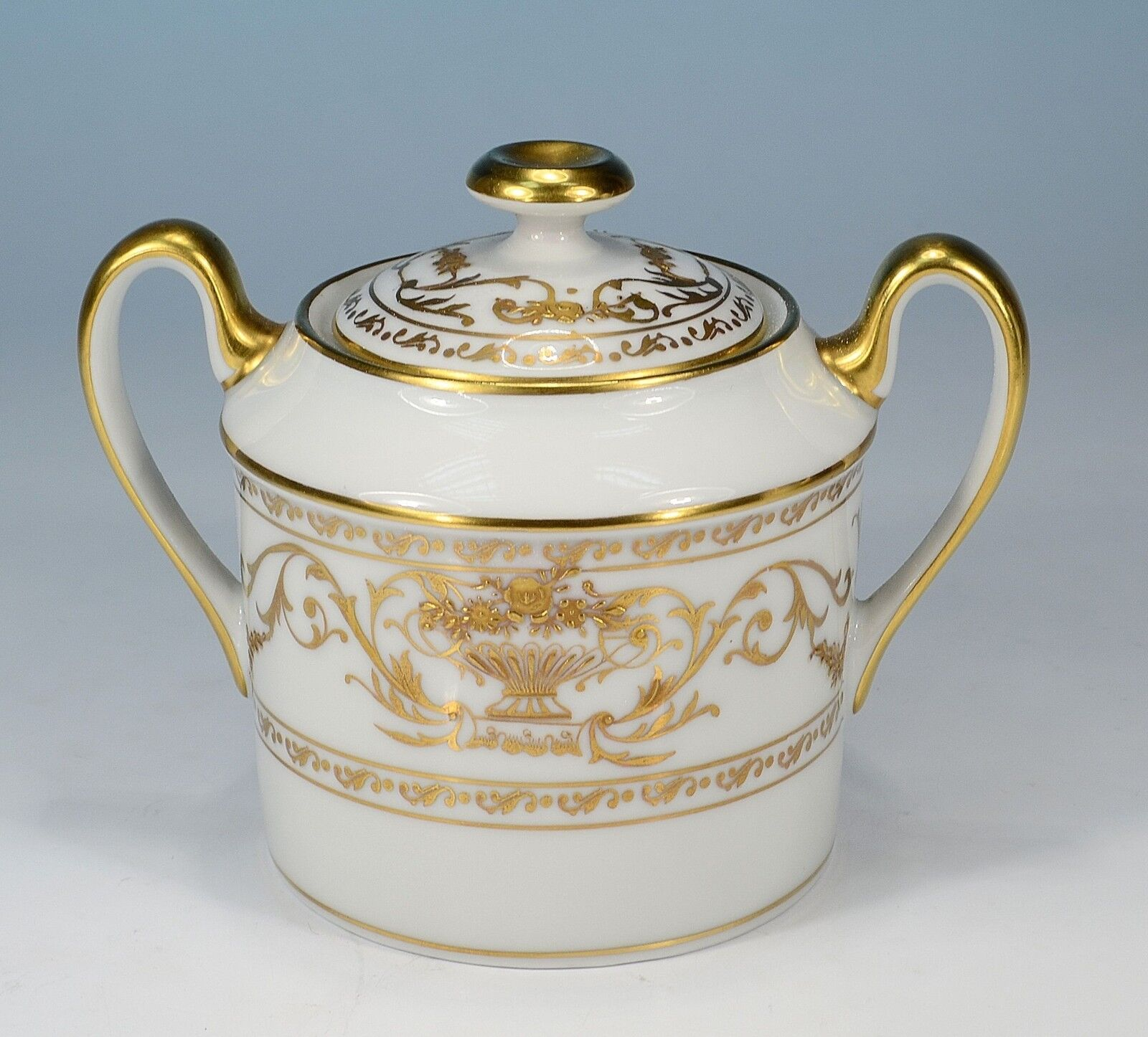 Royal Limoges   or en Relief   Sugar Bowl