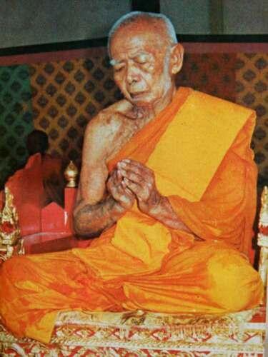 Magic!Phra LP Tim Wat  Rahanrai Sema Nur Copper Old Thai Amulet Buddha Antique