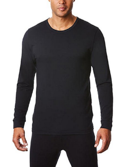 White or Charcoal 32 Degree Heat Men/'s Long Sleeve Crew Neck Base Layer Black
