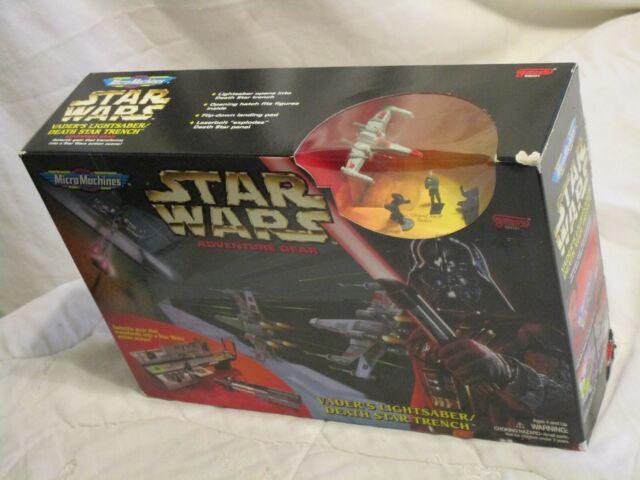 1996 STAR WARS Micro Machine Adventure Gear Vader Lightsaber Death Star Trench