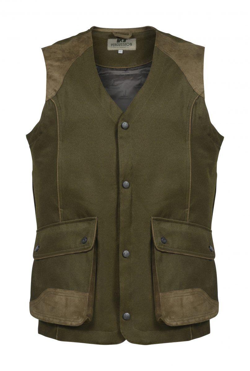 Percussion Sologne Shooting Vest Waistcoat Gilet Khaki