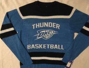 online store b1a17 df064 Details about Oklahoma City Thunder OKC Men's Sweater Fan Wear Glow in the  Dark - M, XL or 2XL