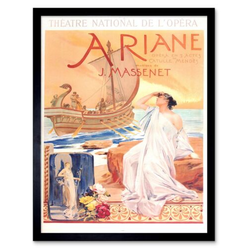Theatre Stage National Opera Ariane Music Massenet 12X16 Inch Framed Art Print