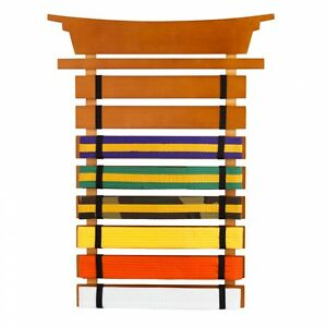 Martial Arts Holder Belt Display Karate Wall Rack Storage Taekwondo Medal Trophy