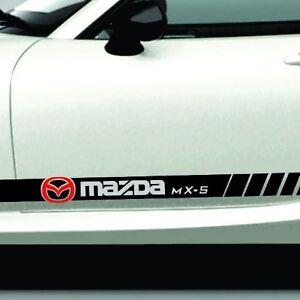 Fits-MAZDA-MX5-Miata-Rocker-Panel-Stripe-2008-to-2018-Older-or-Newer-Versions