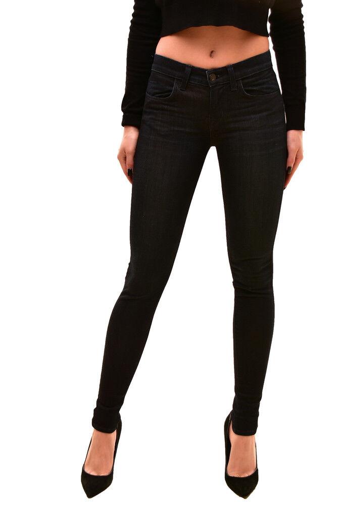 Brand Donna J elastica skinny Midi Rise Jeans Blu 24 Rrp  140 BCF71