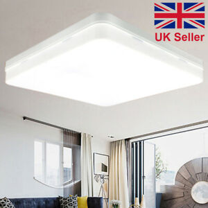 buy online 0a25c 5742a Details about Modern 36W LED Square Flat Panel Ceiling Light Bathroom Flush  Mounted Down Light