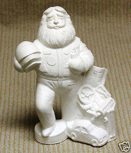 Ceramic-Bisque-Racing-Santa-Gare-Mold-3634-U-Paint-Ready-To-Paint