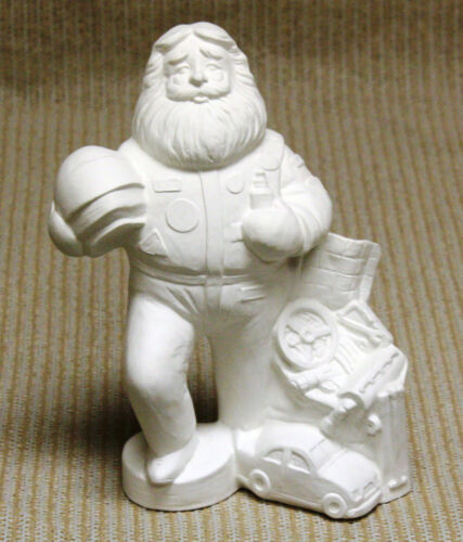 Ceramic Bisque Racing Santa Gare Mold 3634 U-Paint Ready To Paint