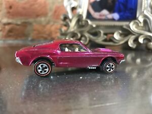 1968-Hot-Wheels-Redline-Custom-Mustang-htf-Creamy-Pink