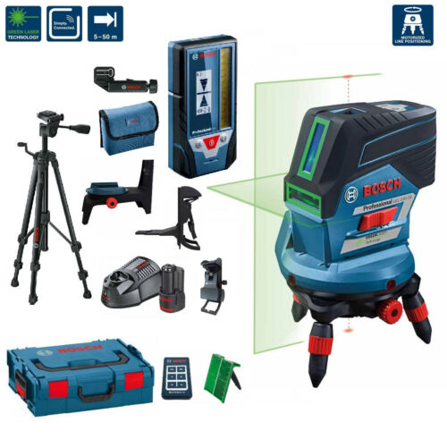bosch gcl 2 50 cg line laser green rm3 remote control receiver lr7 tripod bt150 ebay. Black Bedroom Furniture Sets. Home Design Ideas
