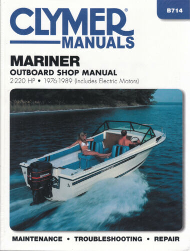 1976-1989 Mariner 2-220 hp Outboard Repair Manual 115 V135 V150 V175 V200 B714