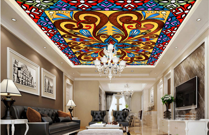 3D Blumiges Muster 74 Fototapeten Wandbild Fototapete BildTapete Familie DE Kyra