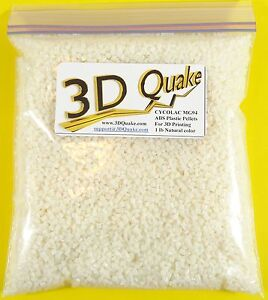 ABS Plastic Pellets 1-5 lbs - Cycolac MG94 for 3D Printing & Injection Molding