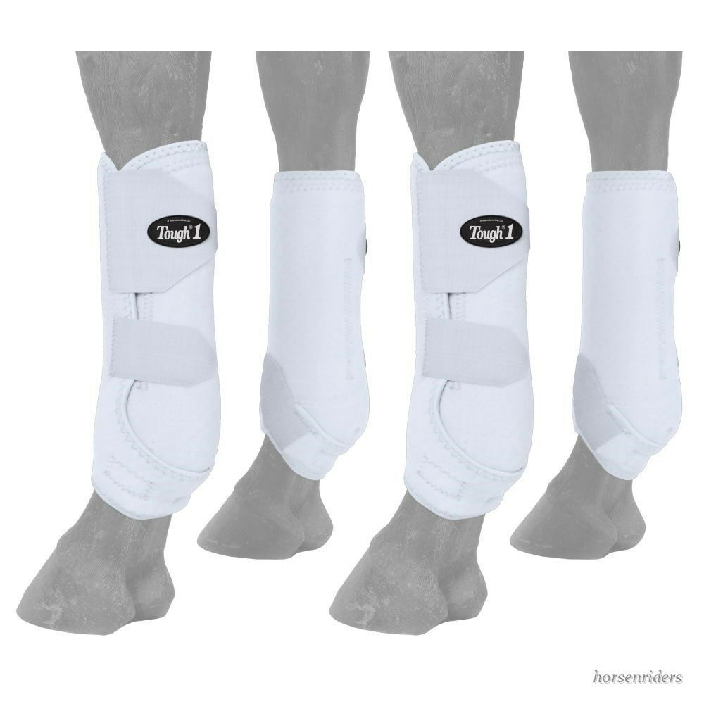 Horse Predective Sport Boots - Extreme Vented - Fronts & Rears - White - Large