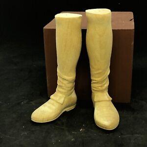 Piedi legno uomo scarpa restauro pastori 6 cm suola figura presepe Napoletano