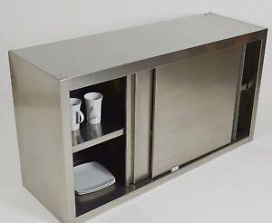 edelstahl wandh ngeschrank wandschrank h ngeschrank schrank schiebet ren nirosta ebay. Black Bedroom Furniture Sets. Home Design Ideas