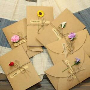 2pcs-Kraft-Paper-Greeting-Cards-with-Envelope-Handmade-Dry-Flower-Invitations-We