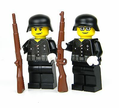 custom German WW2 wehrmacht Soldiers made with real LEGO(R) Black uniform 2
