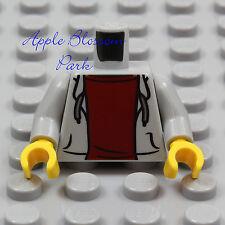 NEW Lego Lite GRAY HOODIE MINIFIG TORSO Boy Girl Sweat Shirt Jacket Dark Red Top