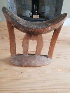 African Ethiopian Craved wooden Headrest