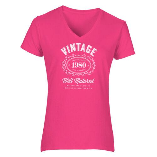 40th Birthday Gift Present Idea For Girls Mum Her Ladies 1980 T Shirt Tee Shirt
