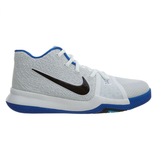 e8b4f4c2c127 Nike Kyrie 3 Little Kids 869985-102 White HYPER Cobalt Shoes Youth Size 12  for sale online