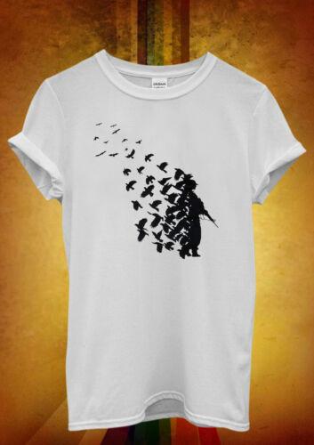 Banksy Soldier Peace Pigeons Hipster Men Women Unisex T Shirt Tank Top Vest 656