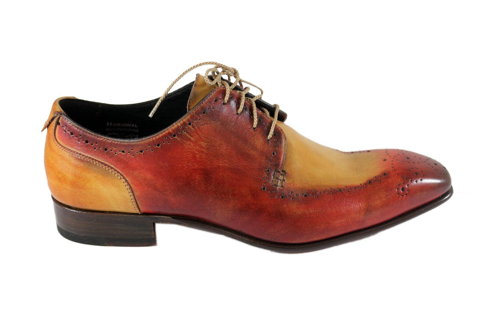 HARRIS biColoreee leather derby, stringate in pelle doppio Coloreeee artigianali