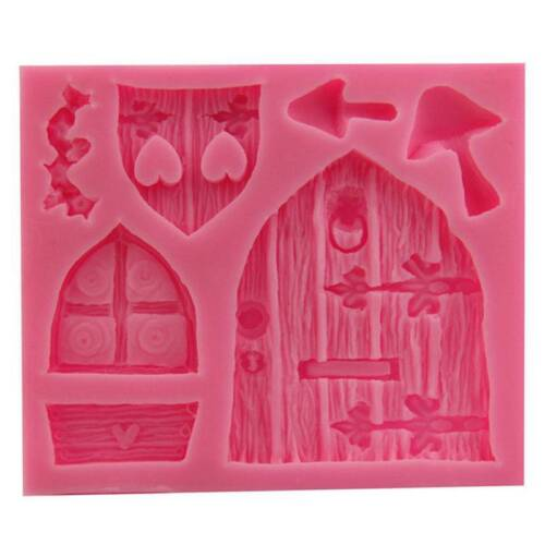 Silicone 3D Fairy Home Kitchen House Door Cake Mold Chocolate Baking Mould t