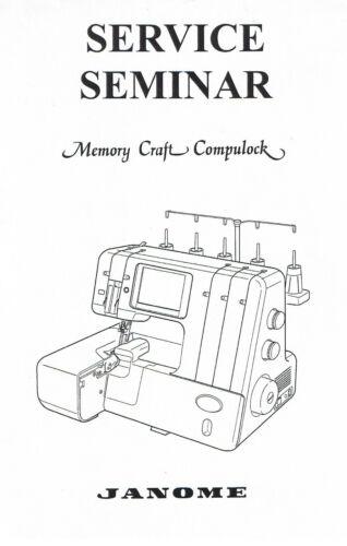 Digital Janome Memory Craft Compulock 888 Serger Overlock Service Repair Manual