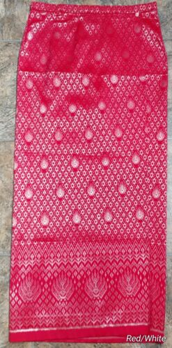 Somput Bot Cambodian//Khmer Synthetic Silk Skirt