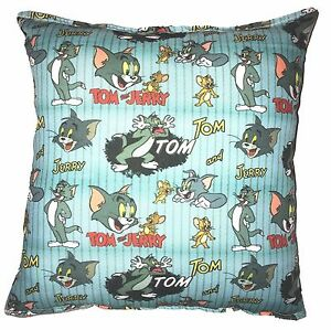Tom-amp-Jerry-Pillow-Warner-Brothers-Tom-and-Jerry-Pillow-Handmade-In-USA-WB