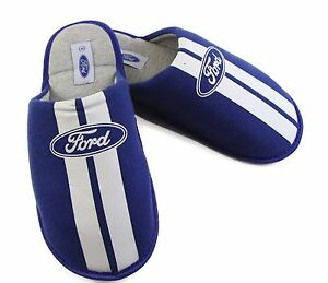 FORD-Mens-Grosby-SCUFF-BLUE-Slippers-Slip-on-Home-Slipper-Size-S-M-L-XL
